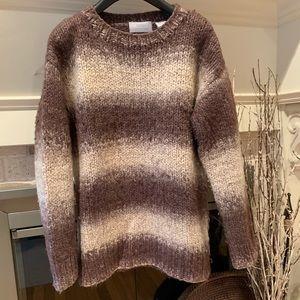Barneys New York Soft Wool Sweater Large Stripes